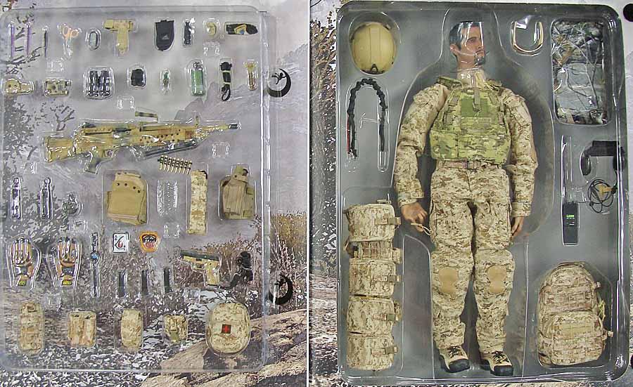 US Navy SEAL Team 8: Gunner w/ MK48MOD1 - Boxed Figure