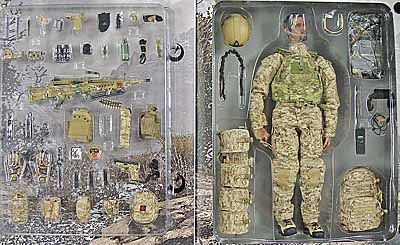 US Navy SEAL Team 8: Gunner w/ MK48MOD1 - Boxed Figure