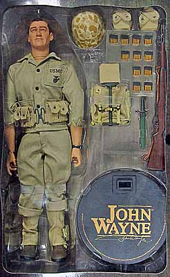 John Wayne Pacific Marine Boxed Figure Damaged Box